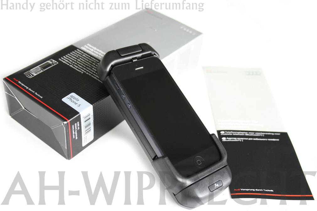 neu audi original apple i phone 5 handyadapter ladeschale. Black Bedroom Furniture Sets. Home Design Ideas