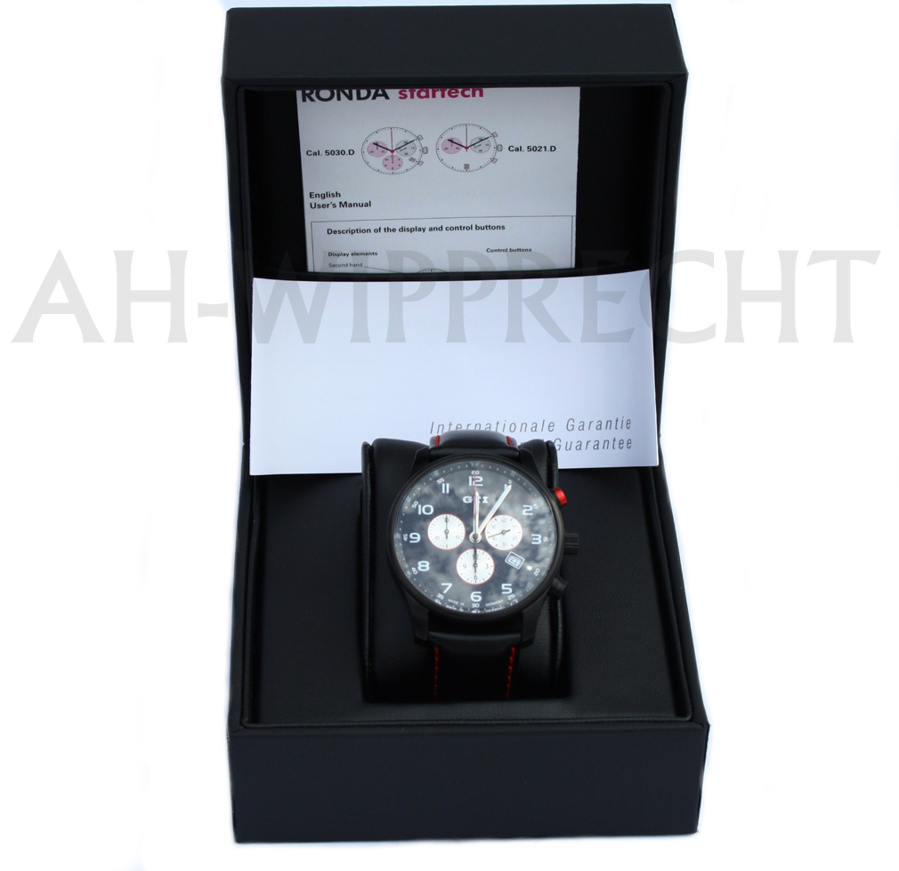 original vw tuning gti uhr chronograph armbanduhr gti golf. Black Bedroom Furniture Sets. Home Design Ideas